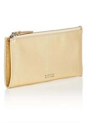 Barneys New York Women's Slim Leather Wallet - Gold
