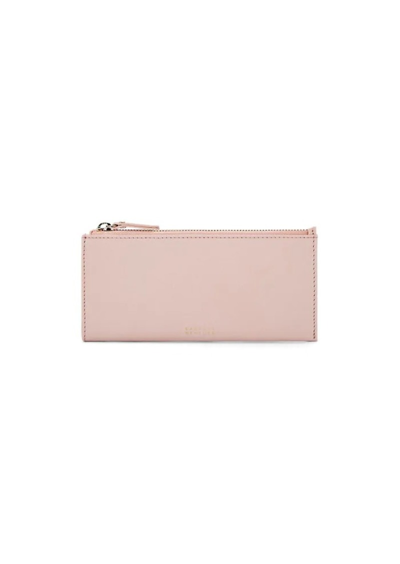 Barneys New York Women's Slim Leather Wallet - Pink