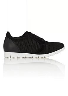 Barneys New York Women's Snakeskin-Embossed Suede Sneakers