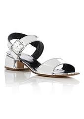 Barneys New York Women's Specchio Leather Slingback Sandals