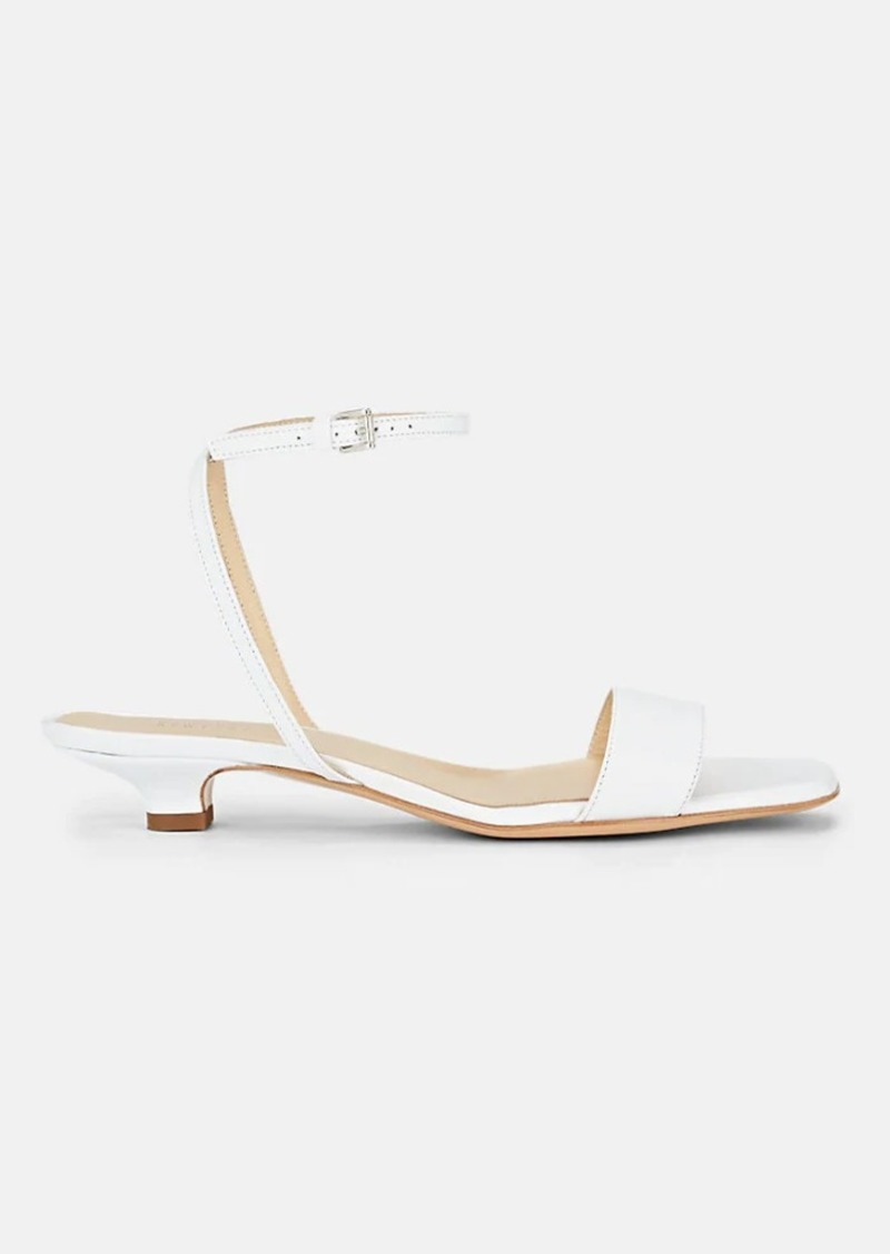 Barneys New York Women's Square-Toe Leather Sandals