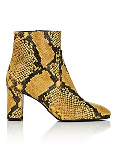 Barneys New York Women's Square-Toe Snakeskin Ankle Boots