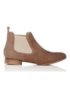 Barneys New York Women's Stamped Leather Chelsea Boots