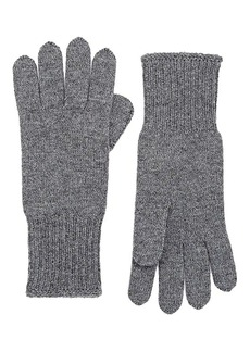 Barneys New York Women's Stockinette-Stitched Cashmere Gloves - Charcoal