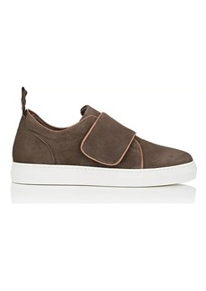 Barneys New York Women's Strap-Detailed Suede Sneakers