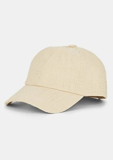 Barneys New York Women's Straw Baseball Cap - Neutral