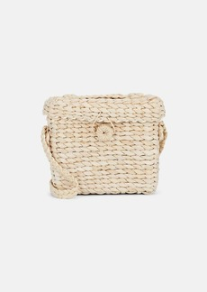 Barneys New York Women's Straw Crossbody Bag - Neutral