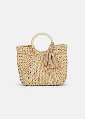 Barneys New York Women's Straw Tote Bag - Neutral