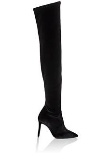 Barneys New York Women's Stretch-Velvet Over-The-Knee Boots