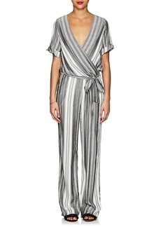 Barneys New York Women's Striped Belted Jumpsuit