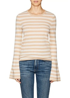 Barneys New York Women's Striped Cashmere Bell-Sleeve Sweater