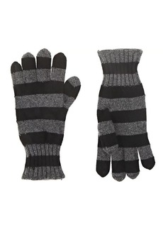 Barneys New York Women's Striped Cashmere Gloves