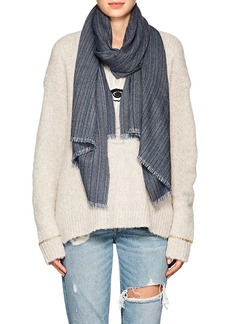 Barneys New York Women's Striped Cashmere Scarf - Navy