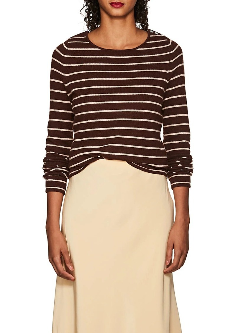 Barneys New York Women's Striped Cashmere Sweater