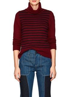 Barneys New York Women's Striped Cashmere Turtleneck Sweater
