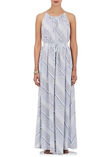 Barneys New York Women's Striped Cotton Maxi Dress