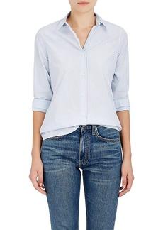 Barneys New York Women's Striped Cotton Poplin Button-Down Blouse