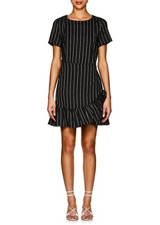 Barneys New York Women's Striped Twill Wrap Dress