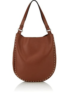Barneys New York Women's Studded Hobo Bag - Brown