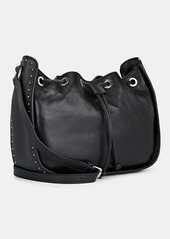 Barneys New York Women's Studded Leather Bucket Bag - Black