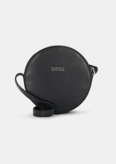 Barneys New York Women's Studded Leather Circle Crossbody Bag - Black