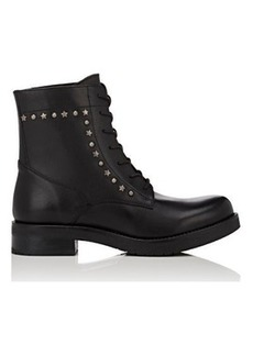Barneys New York Women's Studded Leather Combat Boots