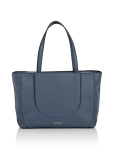 Barneys New York Women's Studded Leather Tote Bag - Blue