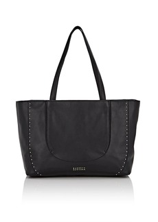 Barneys New York Women's Studded Leather Tote Bag - Black