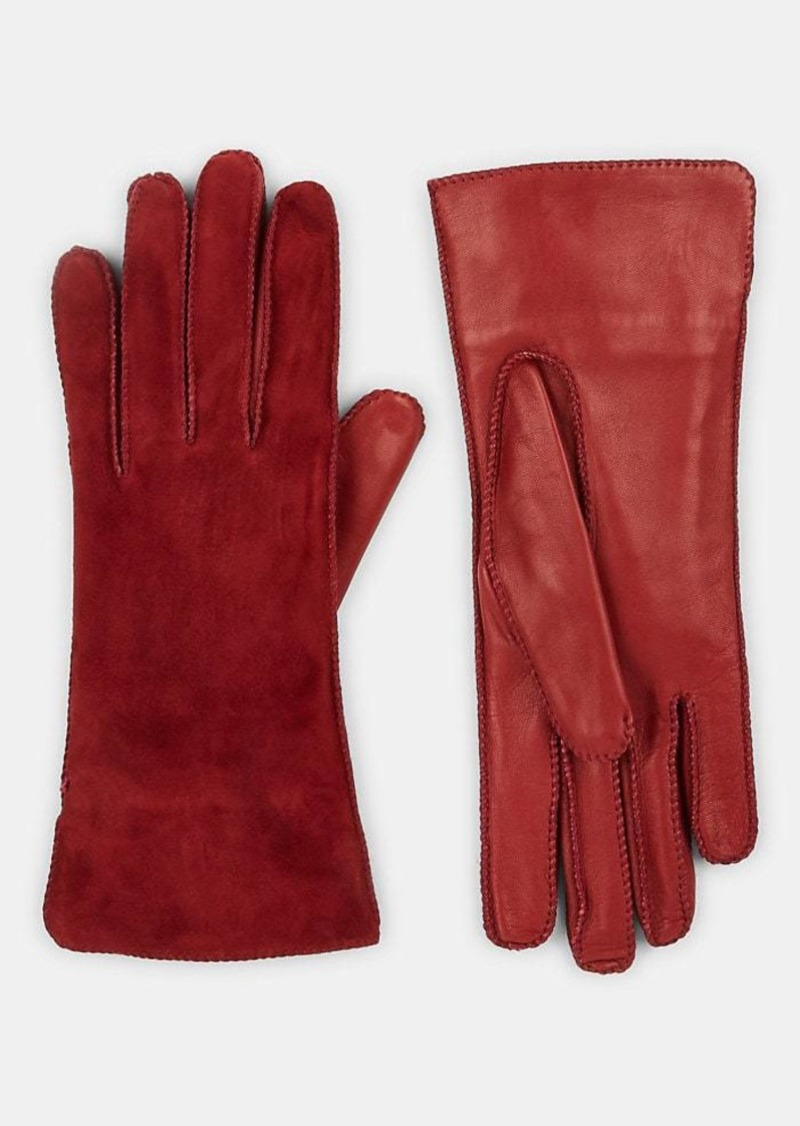 Barneys New York Women's Suede & Leather Gloves