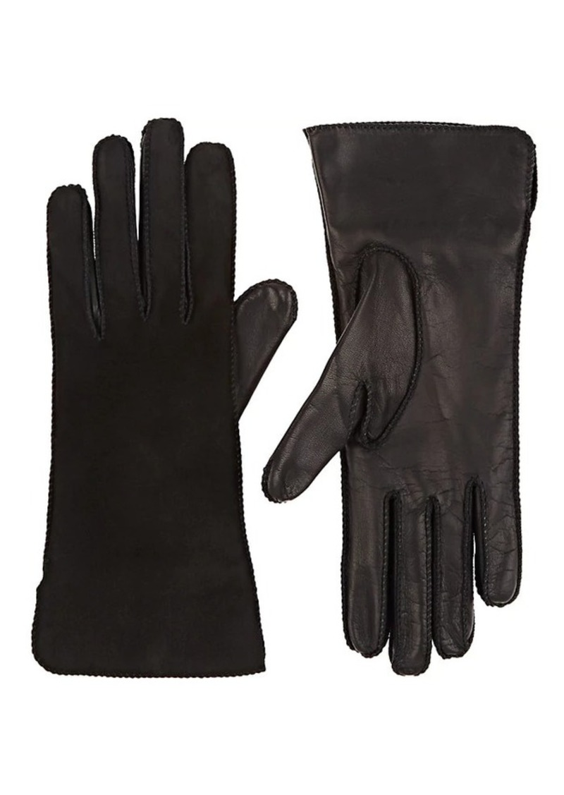 Barneys New York Women's Suede & Nappa Leather Gloves