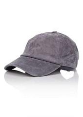 Barneys New York Women's Suede Baseball Cap - Charcoal