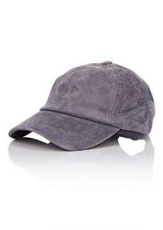 Barneys New York Women's Suede Baseball Cap - Charcoal