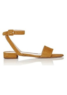 Barneys New York Women's Suede Crisscross-Strap Sandals