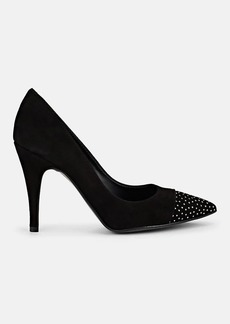 Barneys New York Women's Suede Embellished Cap-Toe Pumps