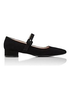Barneys New York Women's Suede Mary Jane Flats