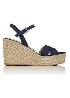 Barneys New York Women's Suede Platform-Wedge Espadrille Sandals