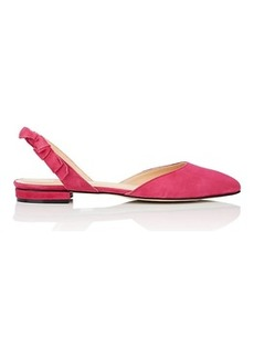 Barneys New York Women's Suede Slingback Flats