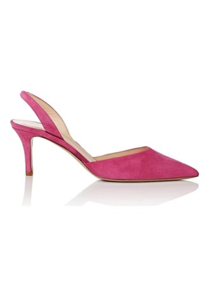 Barneys New York Women's Suede Slingback Pumps