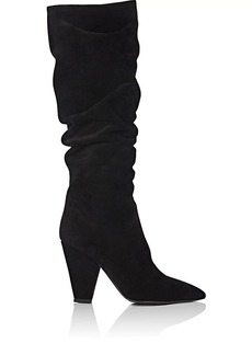 Barneys New York Women's Suede Slouchy Knee Boots