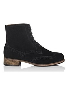 Barneys New York Women's Suede Wingtip Ankle Boots