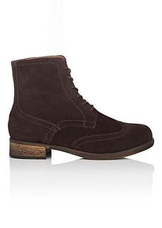 Barneys New York Women's Suede Wingtip Ankle Boots