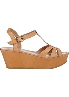 Barneys New York Women's T-Strap Platform Wedge Sandals