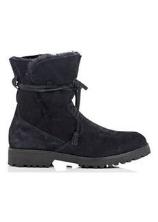 Barneys New York Women's Tasseled-Tie Suede Ankle Boots