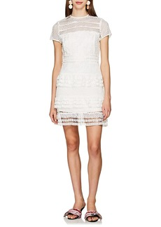 Barneys New York Women's Tiered Lace Dress