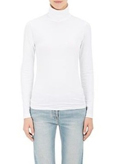 Barneys New York Women's Turtleneck Cotton Long-Sleeve T-Shirt