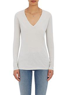 Barneys New York Women's V-Neck Long-Sleeve T-Shirt