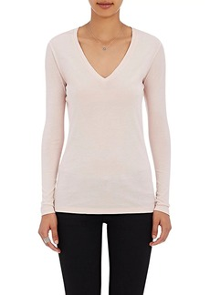 Barneys New York Women's V-Neck Long-Sleeve T-Shirt
