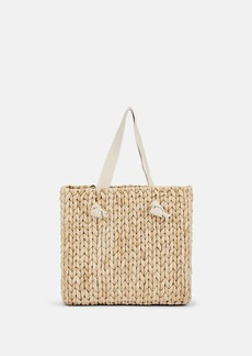Barneys New York Women's Vacation Straw Beach Tote Bag - Neutral
