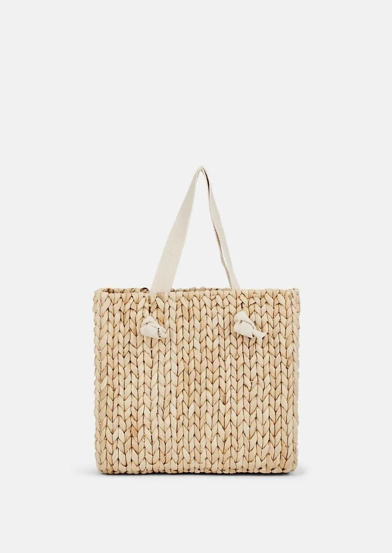 Barneys New York Women's Vacation Straw Beach Tote Bag - Neutral