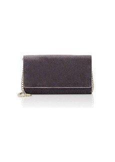 Barneys New York Women's Velvet Chain Wallet - Gunmetal